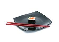 sushi för svart platta Royaltyfria Foton