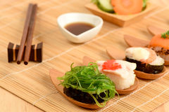 Sushi. Famous food and health of Japan Stock Photography