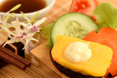 Sushi. Famous food and health of Japan Stock Images