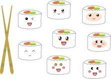 Sushi felici Fotografia Stock Libera da Diritti