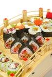 sushi figés de Japonais de cuisine Photo libre de droits