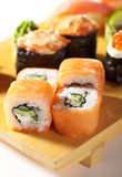 sushi figés de Japonais de cuisine Photographie stock