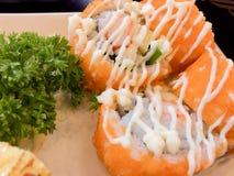 Sushi fijado - comida japonesa Imagenes de archivo