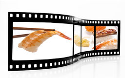 Sushi Film Strip Stock Photography