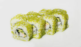 Sushi with fish and caviar Royalty Free Stock Image