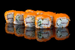 Sushi with fish eggs Stock Image
