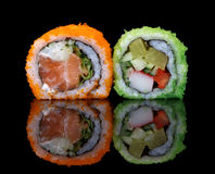 Sushi with fish eggs Royalty Free Stock Image