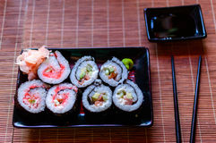 Sushi with Flying Fish Roe Royalty Free Stock Photos
