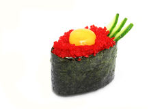 Sushi. Flying fish roe roll Stock Photo