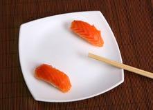 Sushi food. Japanese sushi food with chop sticks Stock Images