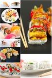 Sushi Food Collage Stock Photo
