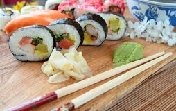 Sushi food mix Stock Photos