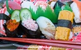 Sushi. Food sushi shrimp seafood macro royalty free stock images