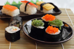 Sushi food style in Japan. Royalty Free Stock Photo