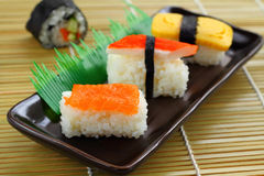 Sushi food style in Japan. Stock Images