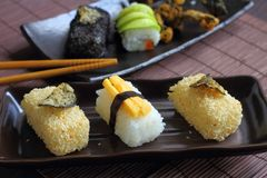 Sushi food style in Japan. Stock Photos