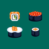 Sushi food vector illustration. Royalty Free Stock Photos