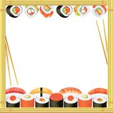 Sushi frame  background Royalty Free Stock Photo