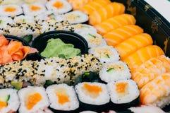 Sushi freschi Rolls Fotografie Stock Libere da Diritti