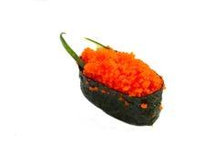 Sushi fresco en el fondo blanco Fotos de archivo