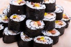 Sushi fresh maki rolls Stock Photography