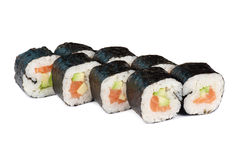 Sushi fresh maki rolls Royalty Free Stock Photo