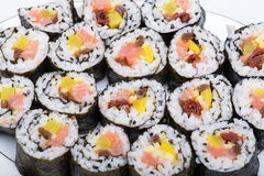 Sushi fresh maki rolls Royalty Free Stock Image