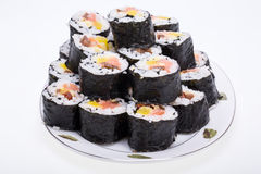 Sushi fresh maki rolls Royalty Free Stock Images