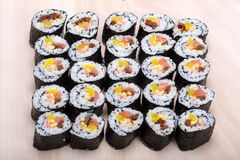 Sushi fresh maki rolls Royalty Free Stock Photography