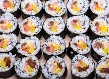 Sushi fresh maki rolls Stock Photos