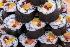 Sushi fresh maki rolls Stock Images