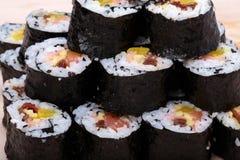 Sushi fresh maki rolls Royalty Free Stock Photos