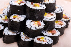 Sushi fresh maki rolls Stock Photography