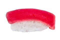 Sushi with fresh tuna isolated on white background Stock Images