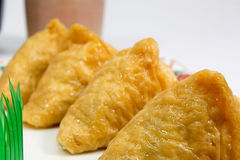 Sushi in fried tofu royalty free stock image