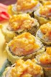 Sushi frito japonés del tempura Imágenes de archivo libres de regalías