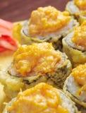 Sushi frito japonés del tempura Fotografía de archivo libre de regalías