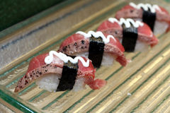 Sushi fumés de thon Images stock