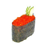 Sushi with fying fish caviar Stock Images