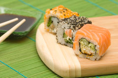 Sushi giapponesi Fotografie Stock Libere da Diritti