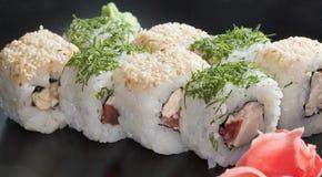 Sushi giapponesi bianchi Fotografia Stock Libera da Diritti