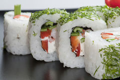 Sushi giapponesi bianchi Fotografia Stock