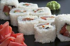 Sushi giapponesi bianchi Fotografie Stock Libere da Diritti