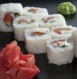 Sushi giapponesi bianchi Immagine Stock Libera da Diritti
