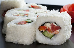 Sushi giapponesi bianchi Immagini Stock