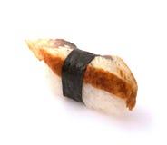 Sushi giapponesi con i pesci dell'anguilla Immagine Stock