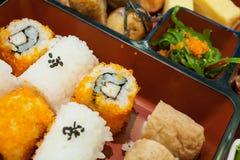 Sushi giapponesi di bento Immagini Stock