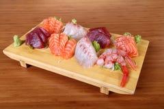 Sashimi sul vassoio Fotografie Stock