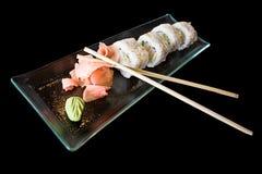 Sushi giapponesi isolati dell'alimento Immagini Stock