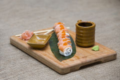 Sushi giapponesi Rolls Immagini Stock Libere da Diritti